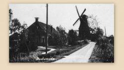 Oudwoude, de molen aan de Trekweg