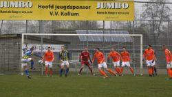 VV Kollum delft het onderspit tegen Be Quick
