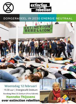 Hanneke Thijssens (Extinction Rebellion) naar energiecafé Dokkum